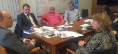Reunión entre Educación y la UNPSJB para diagramar proyectos