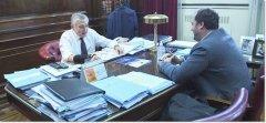 El Rector de la UNPSJB se reunió con el Senador Nacional Mario Pais