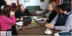 El Rector UNPSJB, Carlos De Marziani se reunió con integrantes del CPIA Chubut.