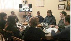 De Marziani, y autoridades de las facultades, se reunieron con el pre candidato Juan Pablo Luque y comitiva