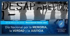 Reflexión en el Día Nacional de la Memoria por la Verdad y la Justicia. Carlos De Marziani Rector UNPSJB
